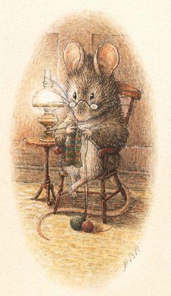 Ratón tejiendo