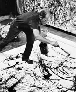 Jackson Pollock pintando