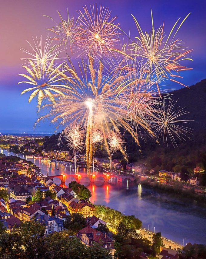 Fuegos artificiales Heidelberg