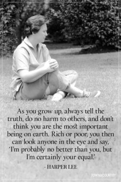 Harper Lee about being kind